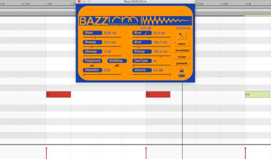 Das Bazzism Drum Synthesizer Plugin.