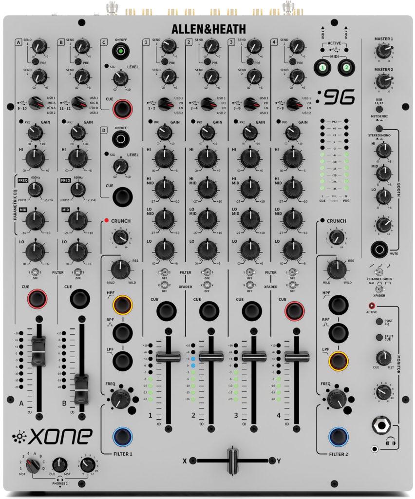 Xone:96: Mixer Draufsicht.