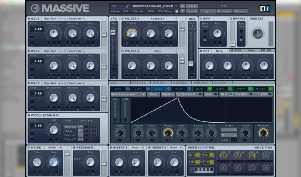 Massive software synthesizer.