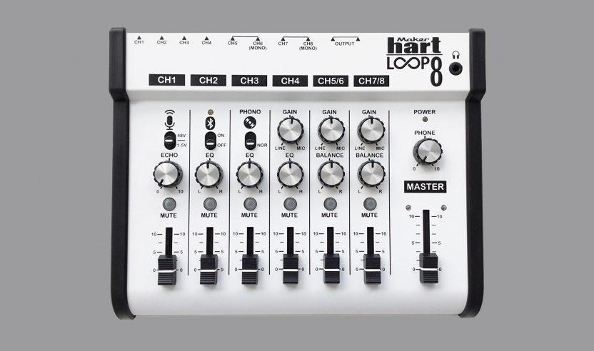 Loop 8 ist ein Mini-Mischpult mit Bluetooth und 24 Bit Audiointerface