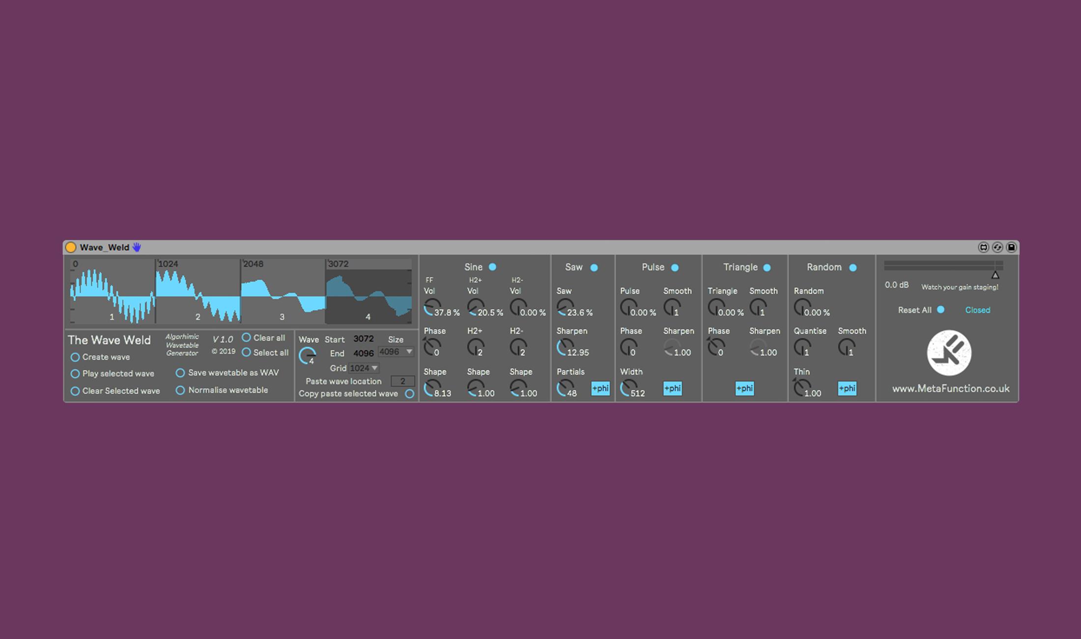 Das kostenlose Wave Welt generiert in Ableton Live Wavetables