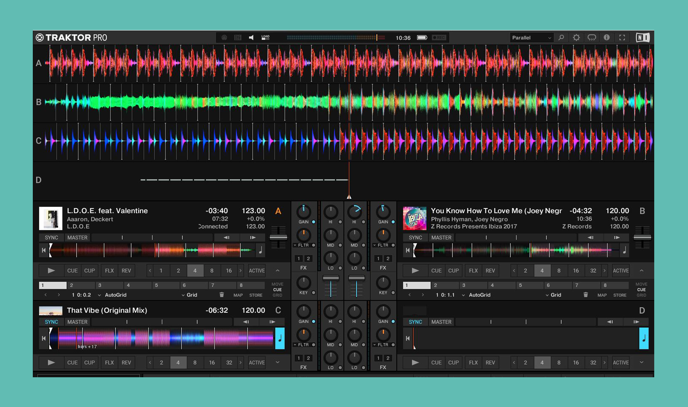Native Instruments Traktor Pro 3.1 Update führt parallele Wellenformen ein