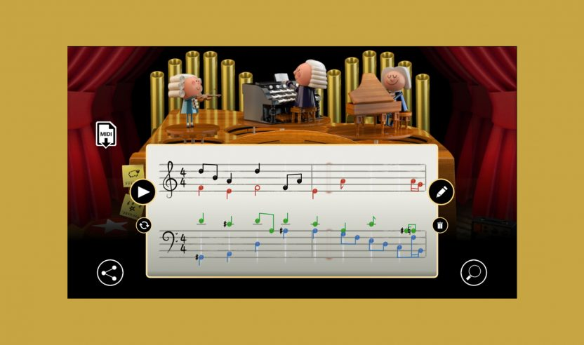 Die KI im neuen Google Doodle lässt dich wie Bach komponieren