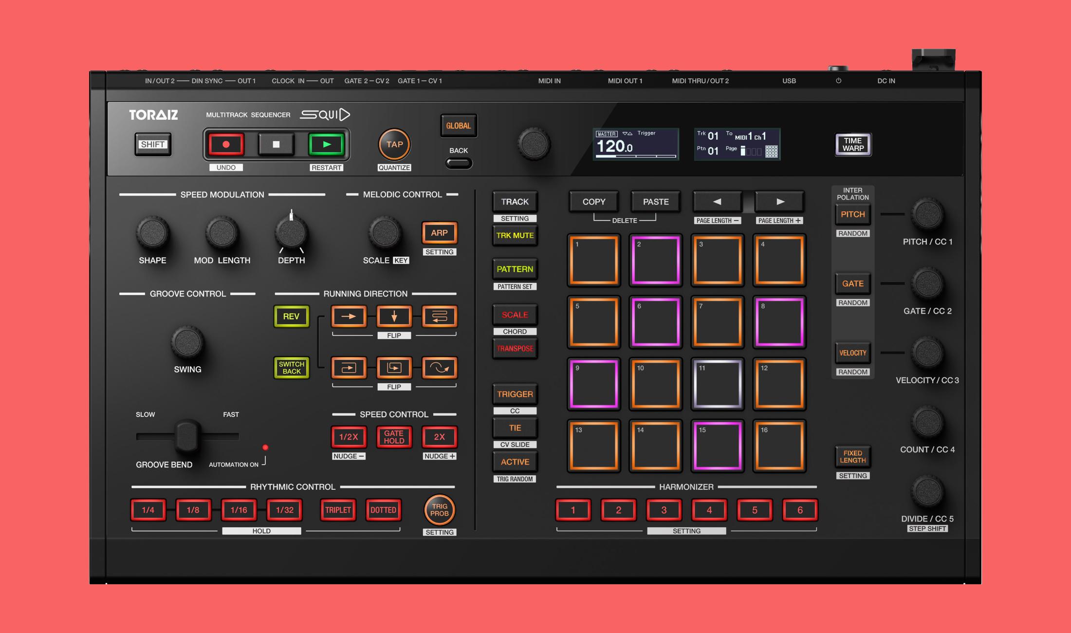 Pioneer DJ TORAIZ SQUID: Multitrack-Sequenzer für Live-Performance
