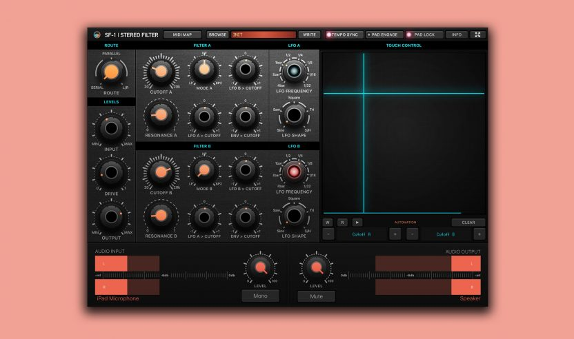 SF-1 ist ein Performance-orientiertes Dual Stereo Filter für das iPad