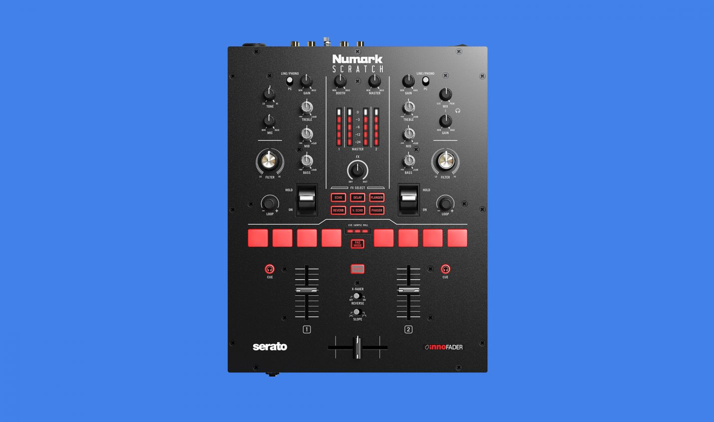 Numark Scratch: 2-Kanal-Mixer für Serato DJ Pro DVS
