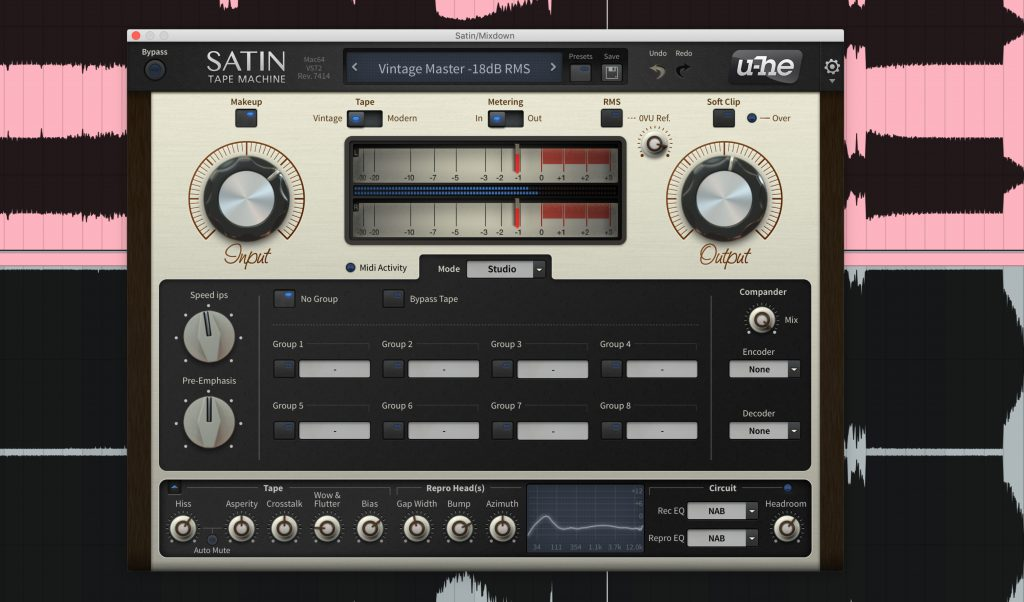 U-He Satin Bandmaschine.