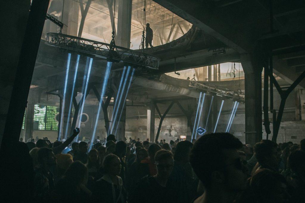 Ein Floor auf dem Gamma Festival in St- Petersburg.