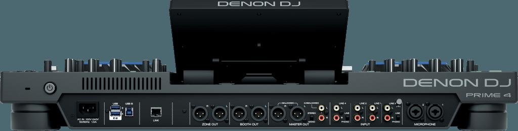 Denon DJ Prime 4 Rückseite.