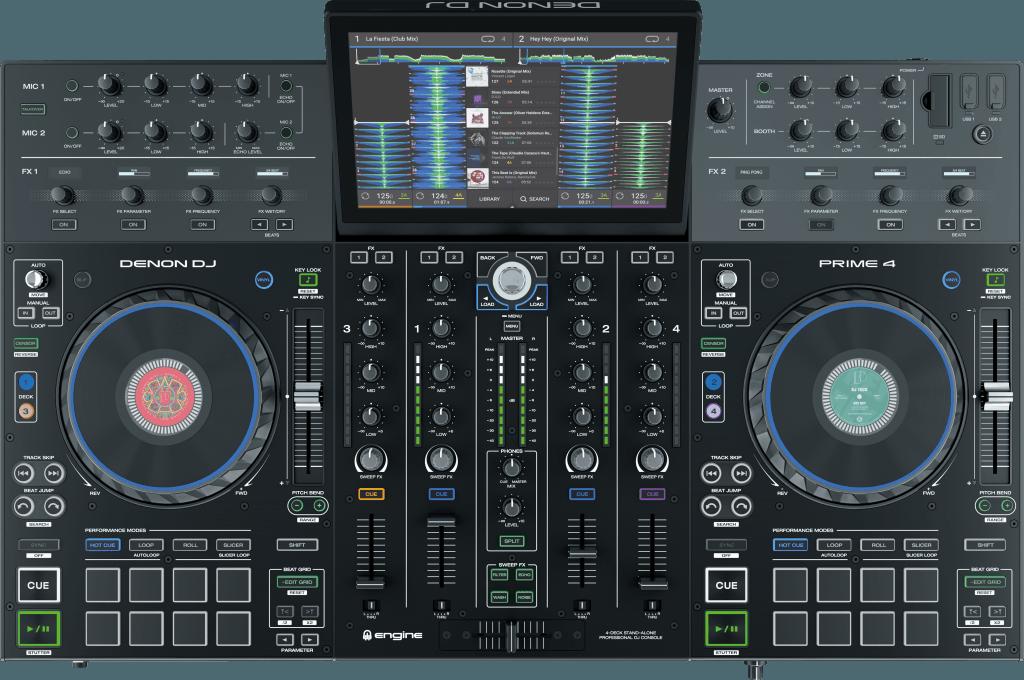 Denon DJ Prime 4 Draufsicht.