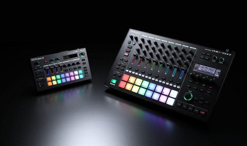 Roland MC-707 und MC-101 Grooveboxen mit Sampling und Synths