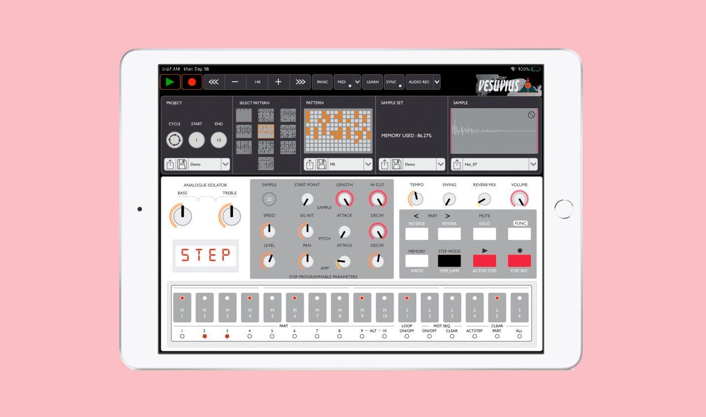 Finegear Vesuvius Sampler: Korg Volca Sample für das iPad