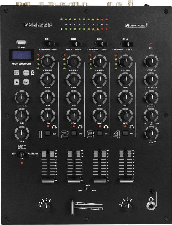 Omnitronic PM422 P Mixer von oben.