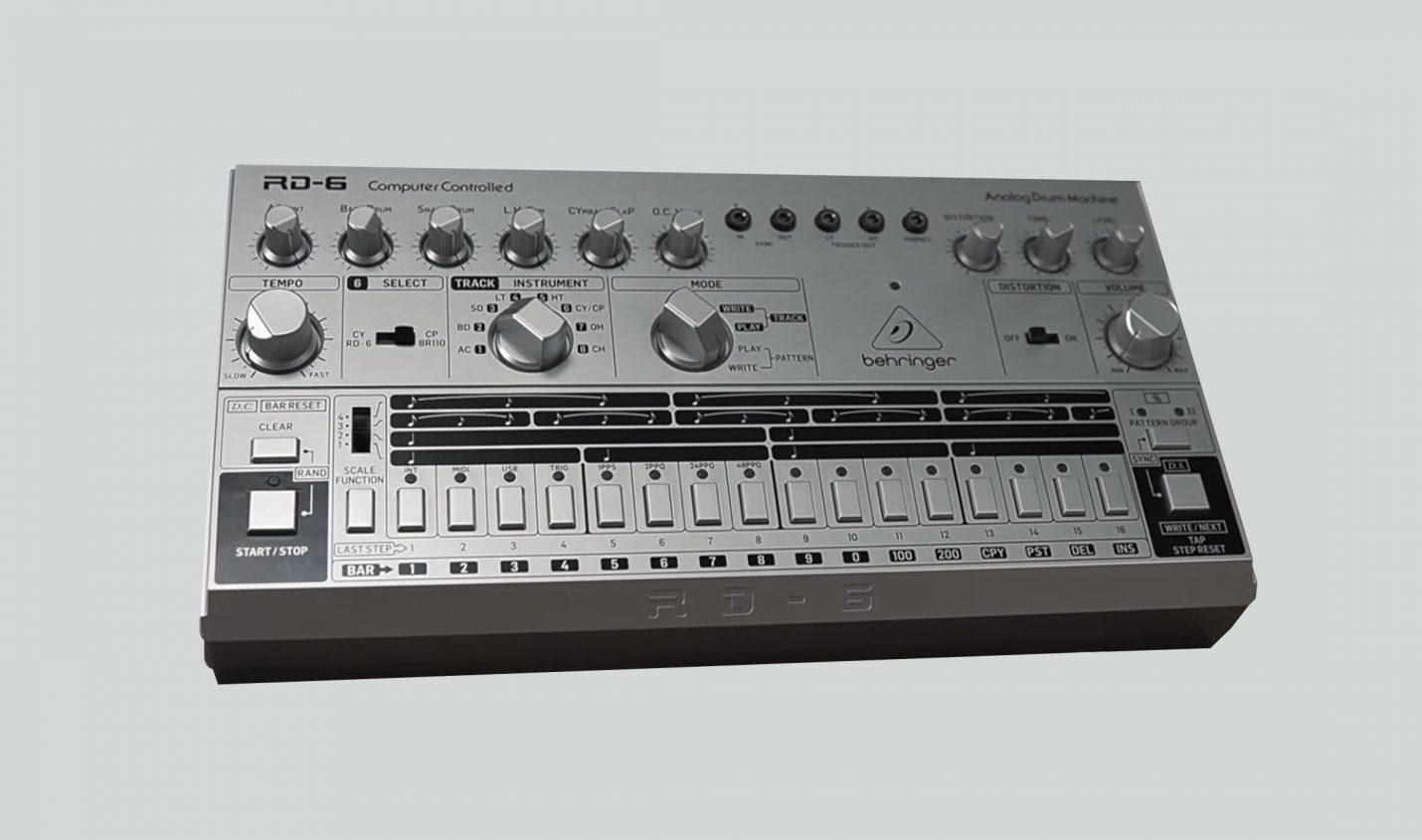 Behringer RD-6: Klon der Roland TR-606 und Begleiter für TD-3 - DJ LAB