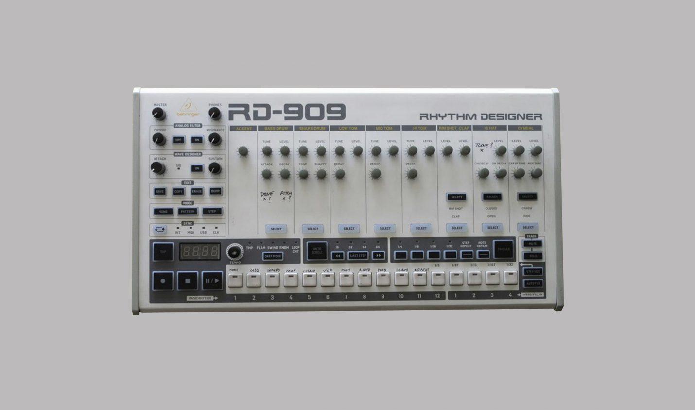 Behringer: Neuigkeiten zu RD-9 (RD-909) und Klon des Roland CR-78