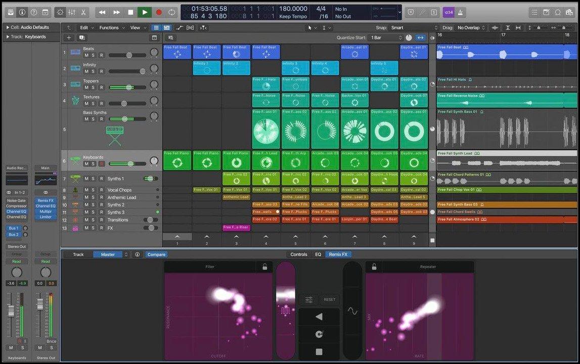 Logic Pro Leak mit Ableton Session View.