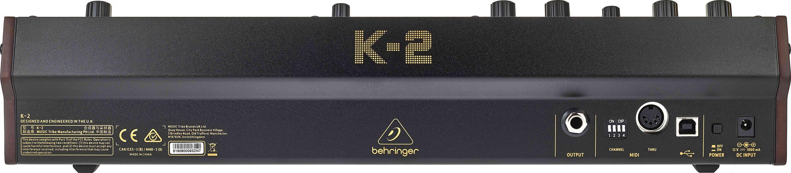 Behringer K-2 Anschlüsse.