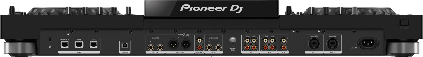 Pioneer XDJ-XZ Anschlüsse.