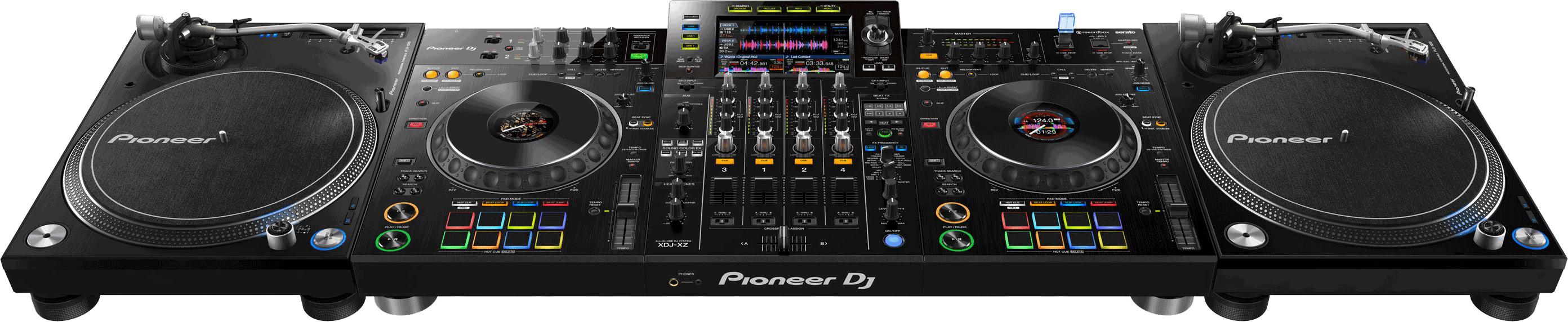 Pioneer XDJ-XZ mit Plattenspielern.