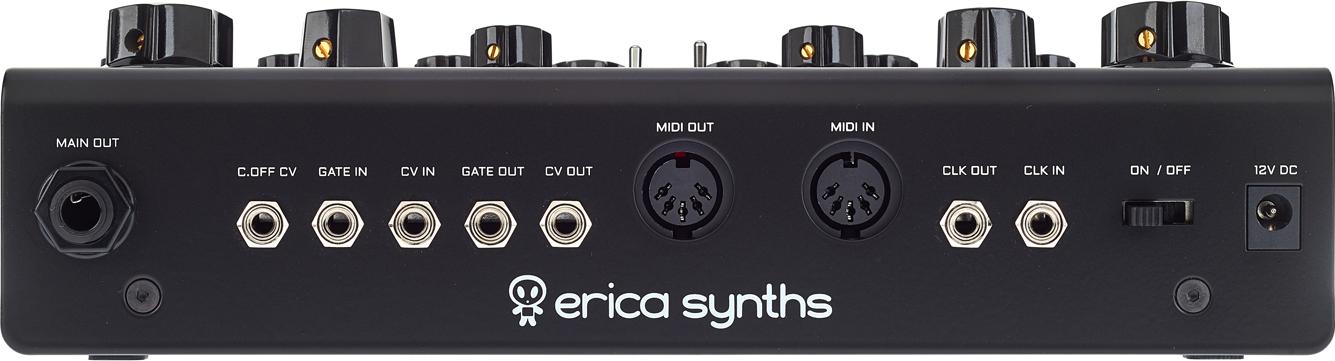 Anschlüsse des Erica Synths DB-01 Bassline.