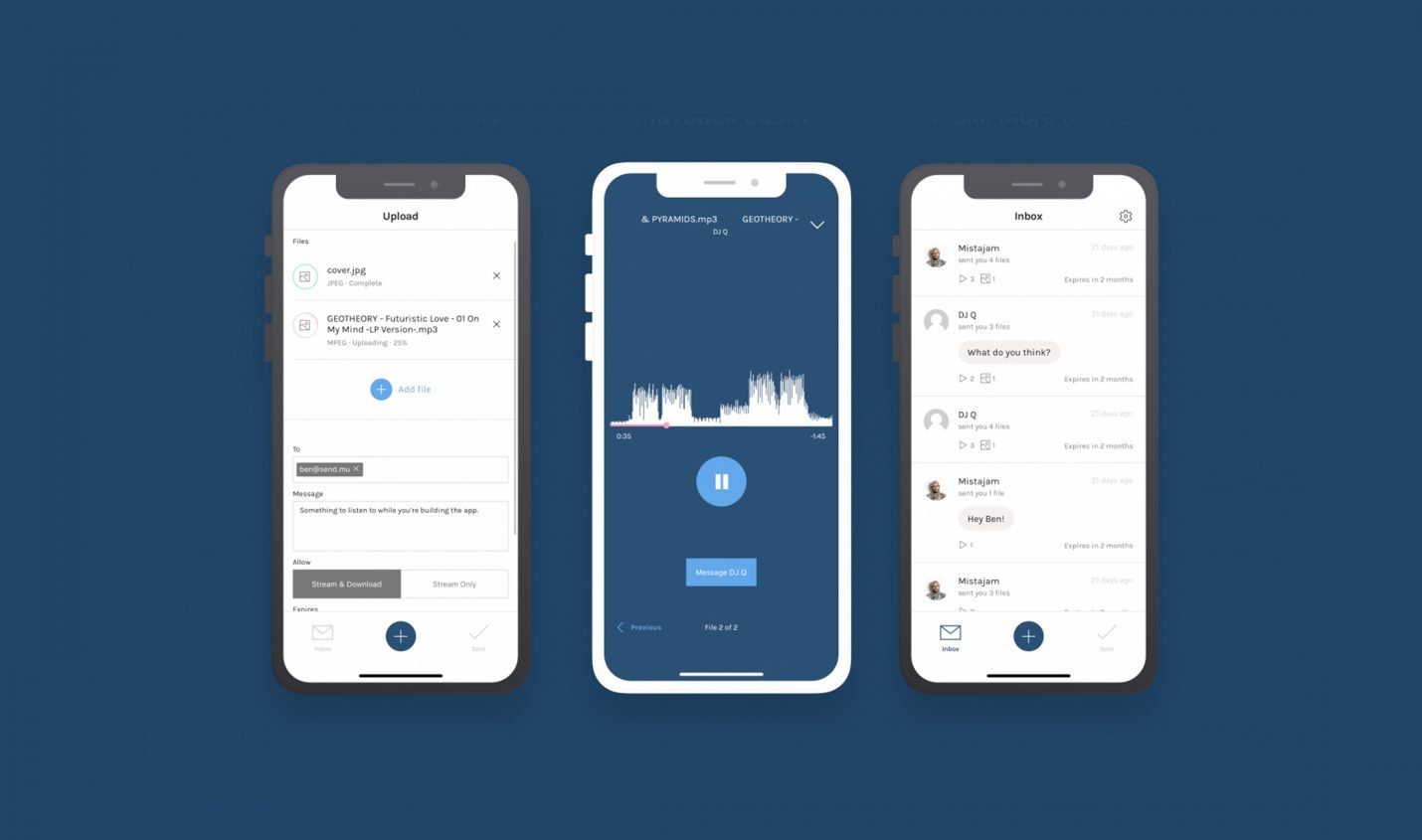SendMusic ist ab sofort als iOS-App erhätlich
