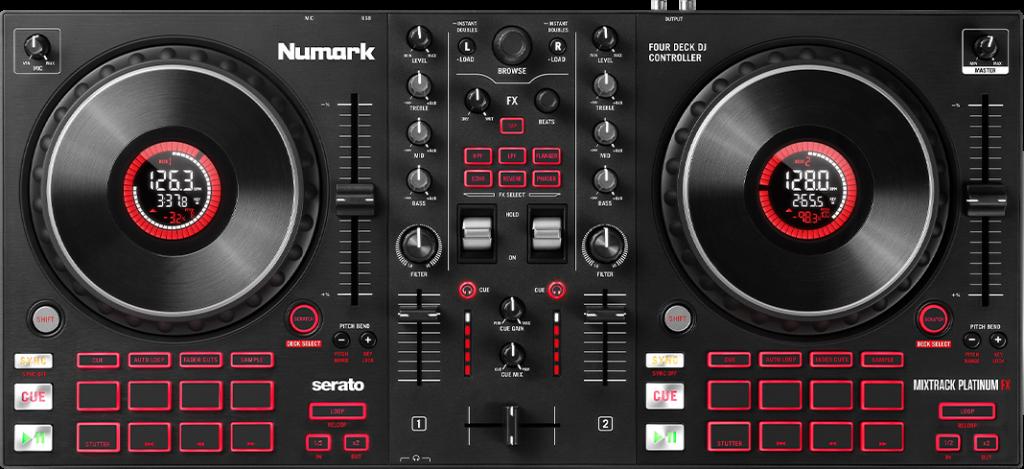 Mixtrack Platinum FX Test Draufsicht.