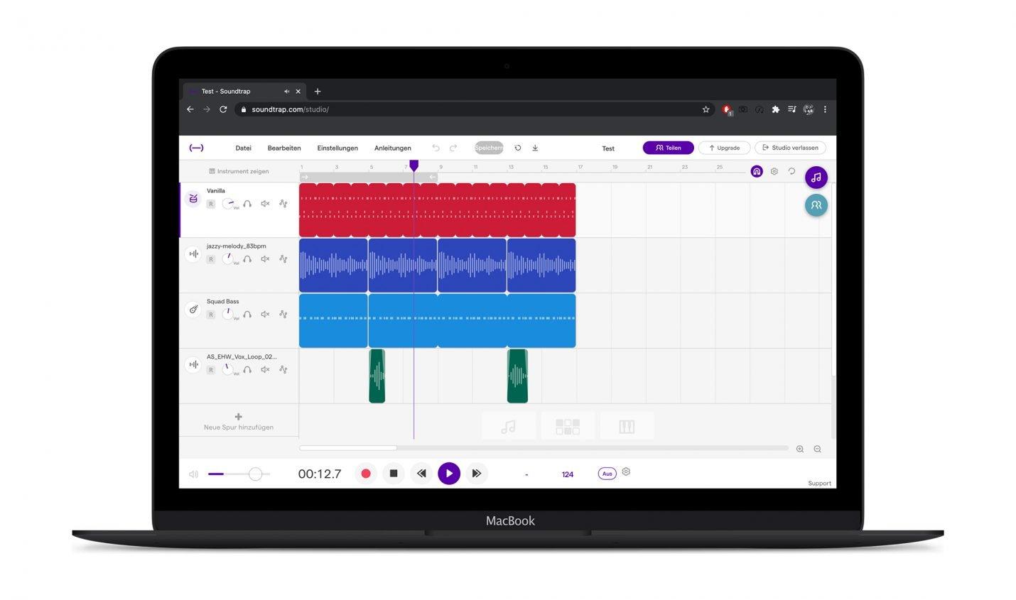 Test: Soundtrap / DAW in der Cloud