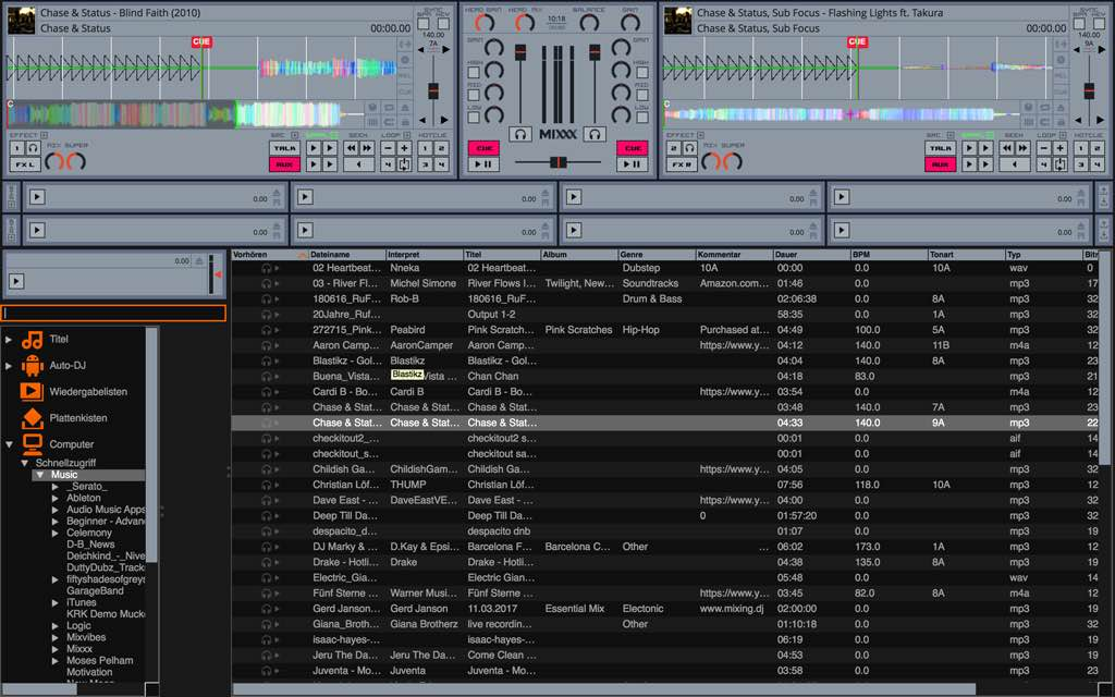 Kostenlose DJ-Software: Mixxx 2.1.