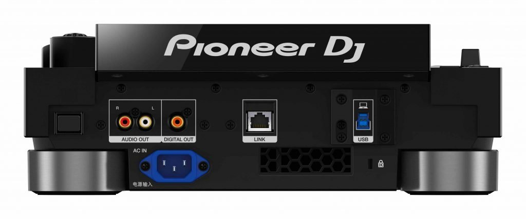 Pioner DJ CDJ-3000 Anschlüsse.
