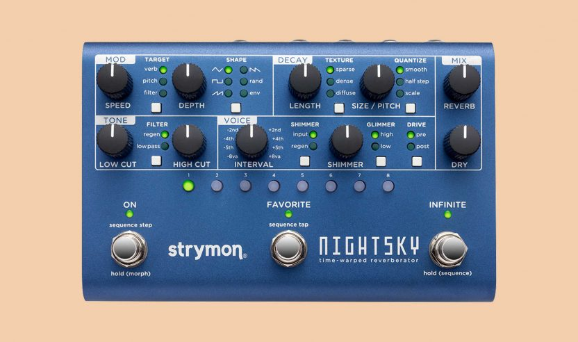 Strymon NightSky: Neues Hall-Pedal im Multieffekt-Format