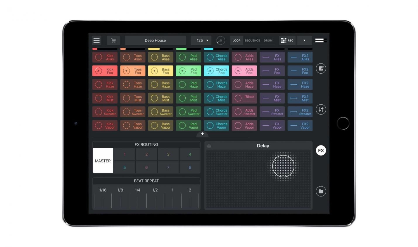 Test: Mixvibes Remixlive 5 (iOS) / Sample-Kreativtool