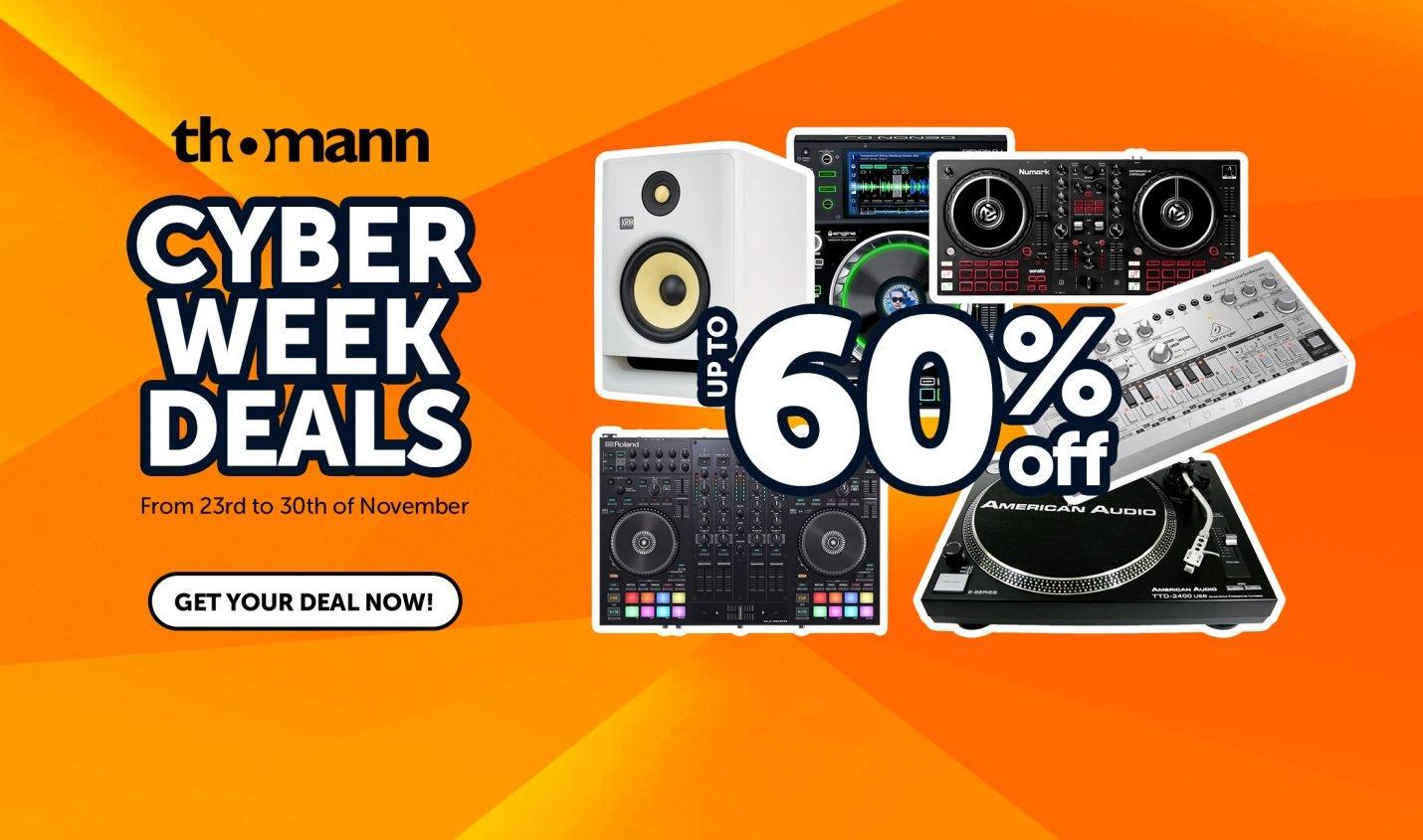 Cyber-Week: Thomann mit bis zu 60% Rabatt