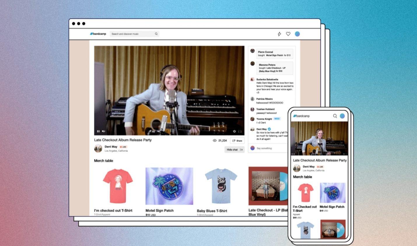 Bandcamp Live: Neuer Streaming-Service für Liveshows