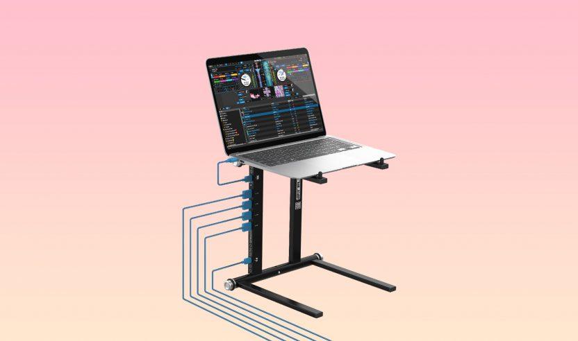 Reloop Stand Hub: Laptop-Ständer mit USB-Anschlüssen