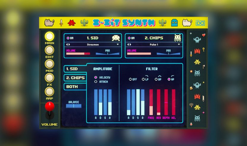 UVI 8-Bit Synth: Retro-Game Sounds von C-64 bis Game Boy