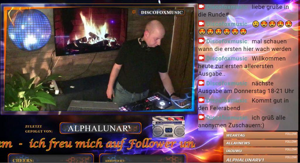 Twitch DJs in Aktion.