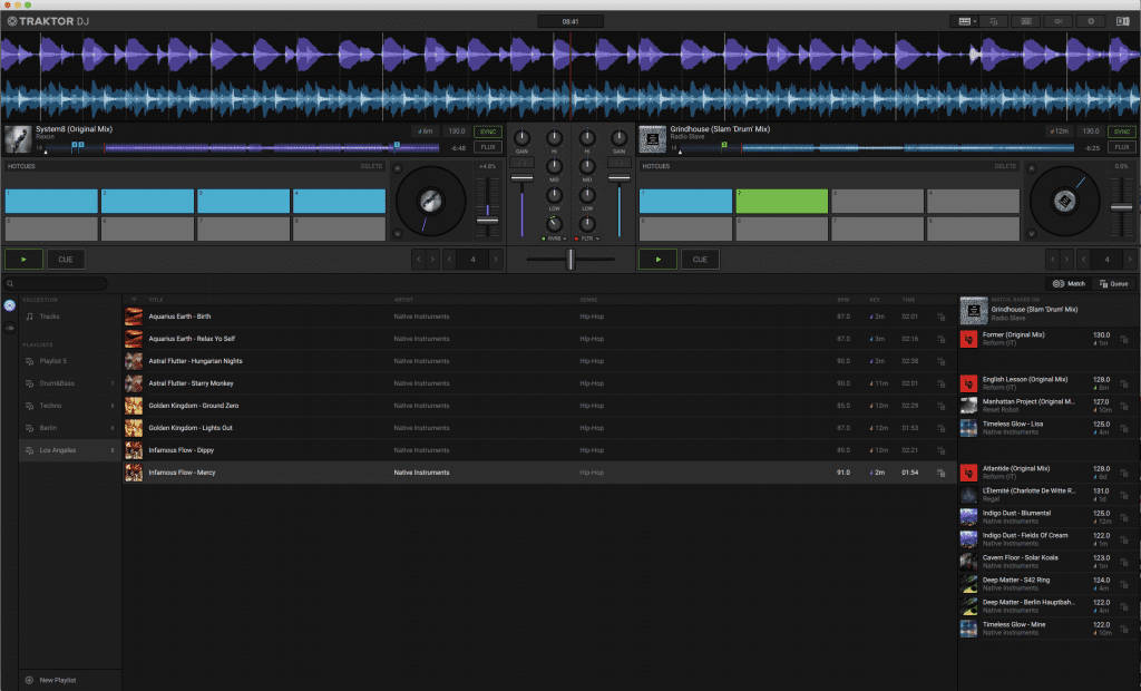 Screenshot Traktor DJ 2 Computerversion.