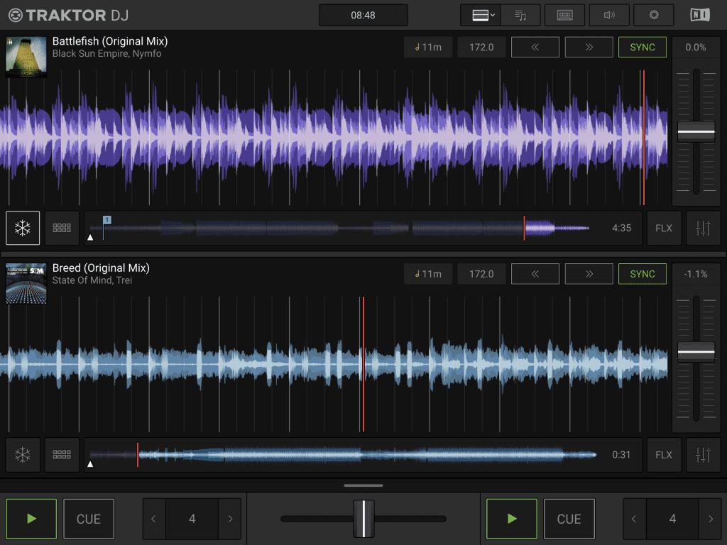 Screenshot Traktor DJ 2 App.