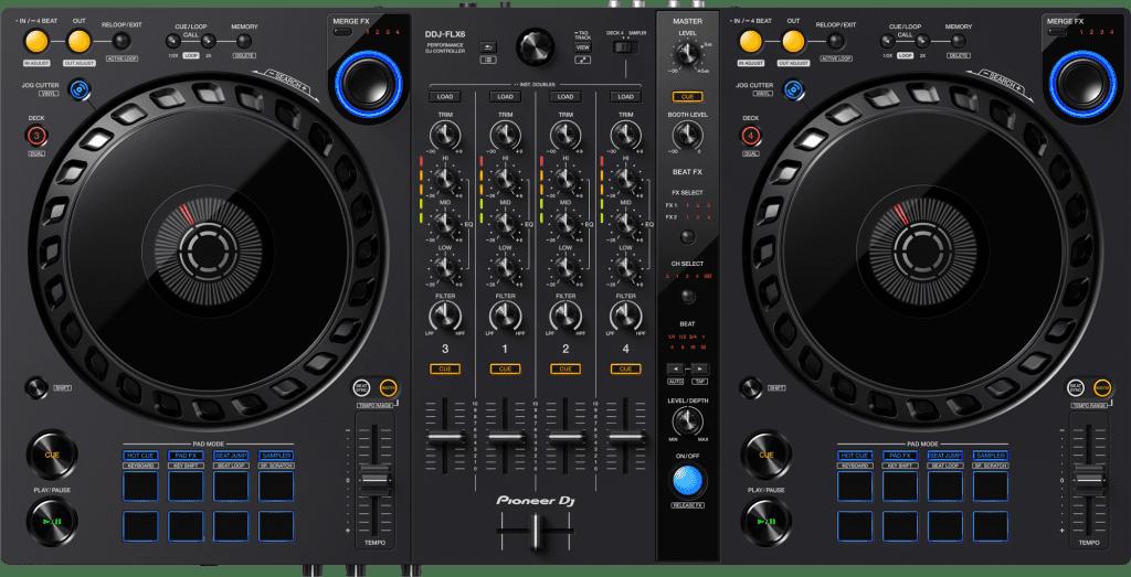 Pioneer DJ DDJ-FLX6 von oben.