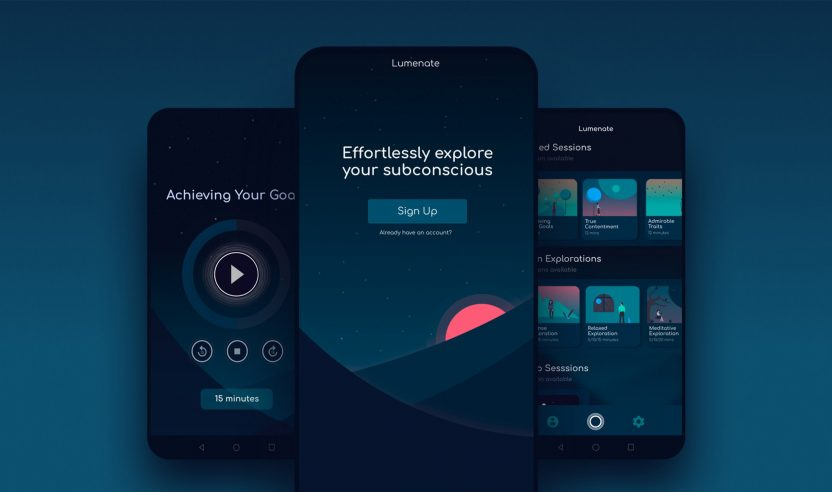 Lumenate: Meditations-App mit psychedelischem Touch