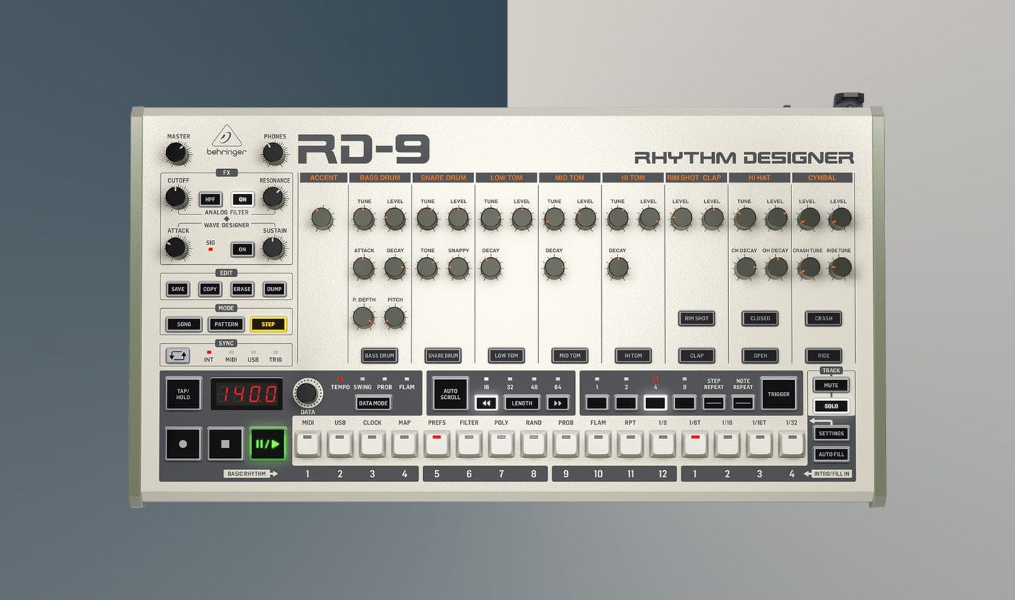 Behringer RD-9: TR-909 Klon ab sofort erhältlich