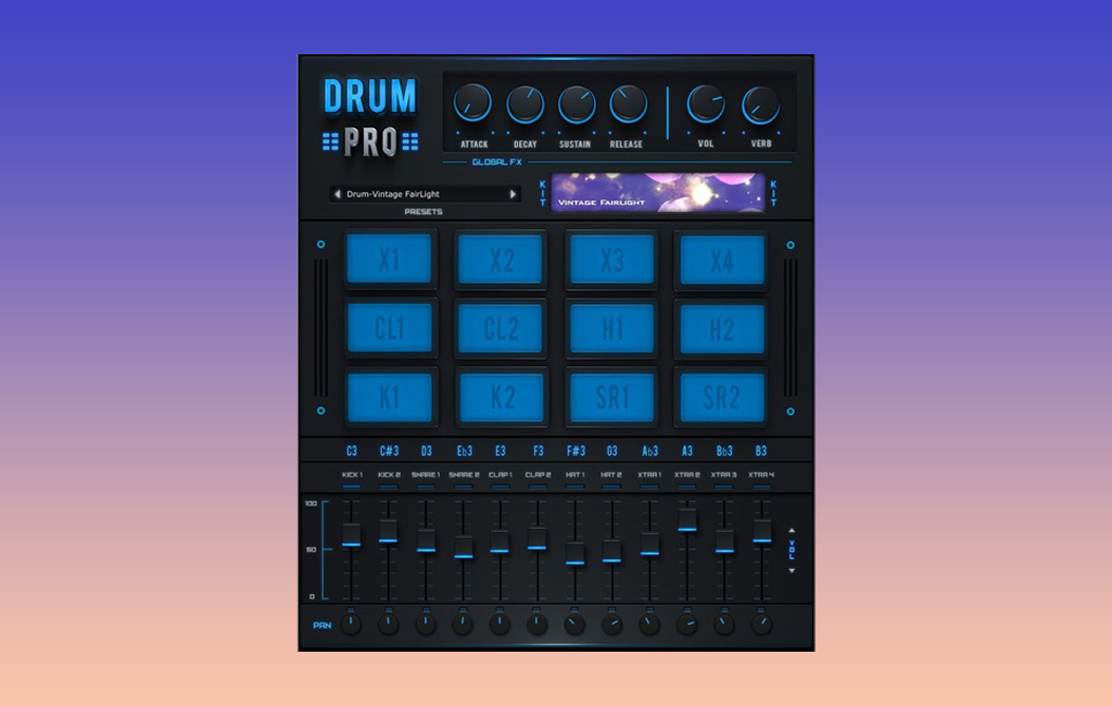 Die besten Freeware-Drum Plugins: Drum Pro.