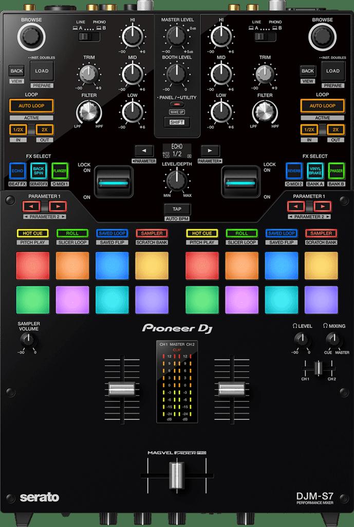 Pioneer DJ DJM-S7 von oben.