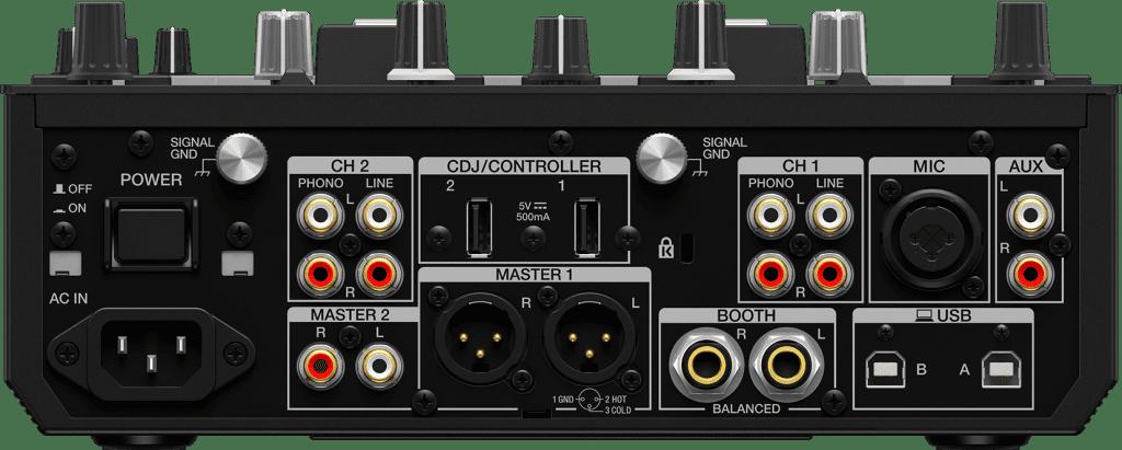 Pioneer DJ DJM-S7 von hinten.
