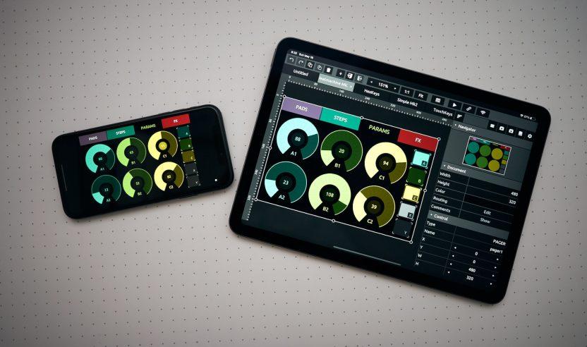 TouchOSC: Überarbeitete Version des Controller-Editors für OSC und MIDI