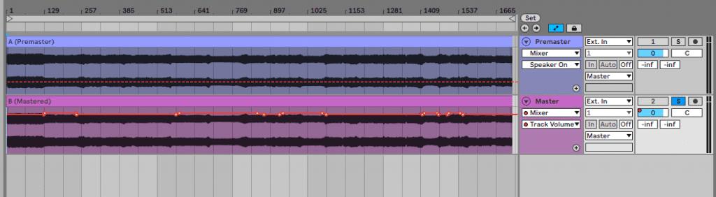 DJ-Set Mastering: Lautstärke anpassen.