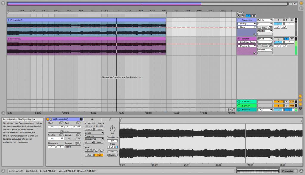 DJ-Set Mastering: Den Mix importieren.