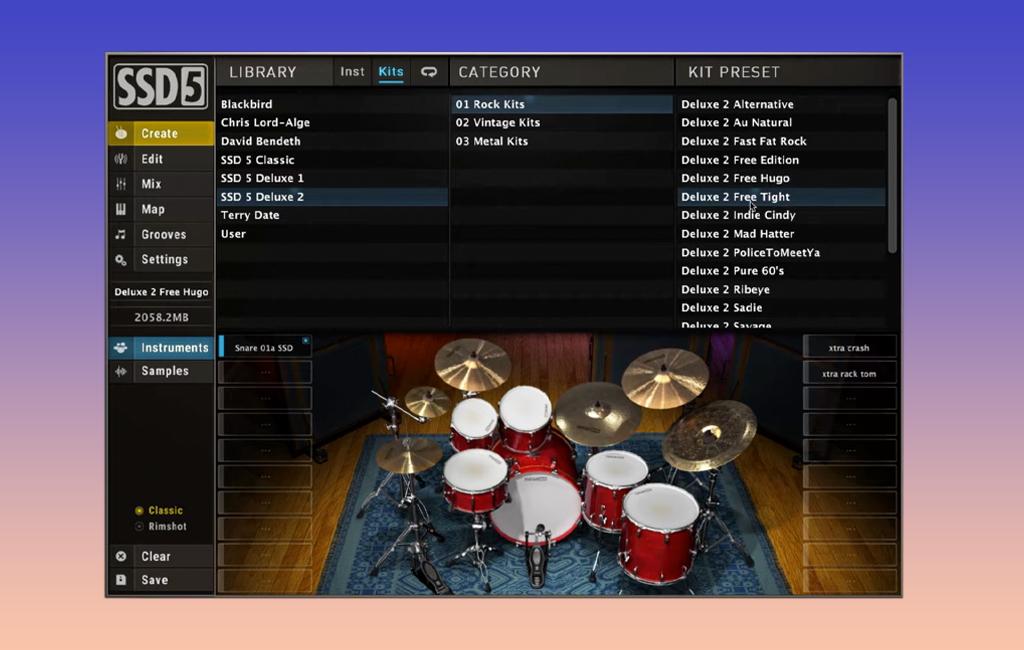 Die besten Freeware-Drum Plugins: Slate.