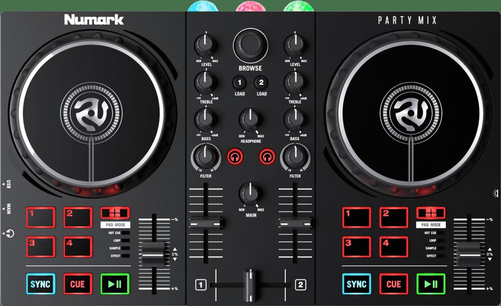 Numark Party Mix II Draufsicht.