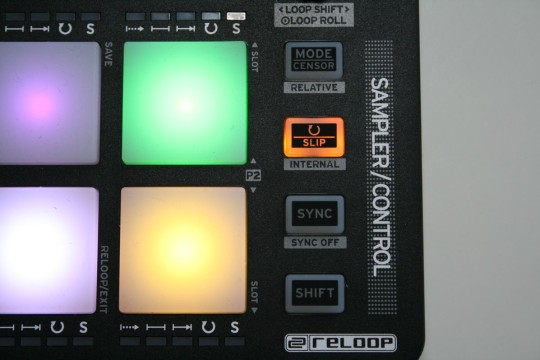 Reloop Neon - Sampler/Control-Taster